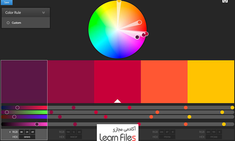 Choose the appropriate color for the site background