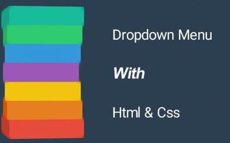 آموزش ساخت منو کشویی با html css
